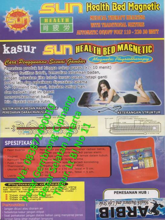 Sun Health bed magnetic phisio terapi
